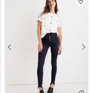 Madewell 9 inch Mid-rise Berkeley Black Jeans